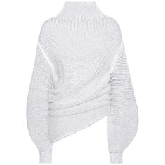 Stella McCartney Fluid Wool-Blend Turtleneck Sweater ($905) ❤ liked on Polyvore featuring tops, sweaters, white, stella mccartney, white turtleneck top, turtle neck sweater, turtle neck top and polo neck top