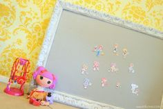 I used to play with felt boards all the time when I was little. Framed Felt Board Tutorial