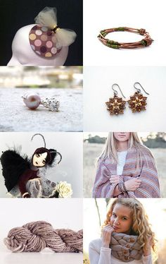 Mamma says keep Warm  by Kathy Read on Etsy--Pinned with TreasuryPin.com FEATURING MY BROWN STARBURST EARRINGS