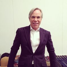 """""""@TommyHilfiger at his studio tonight #tommy #wsj Q&A; on wsj Heard on the Runway Friday"""" #nyfw"""