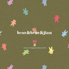 mizeedraw / bear / pattern / color / pastel / cute