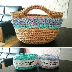 MONOPOP T-SHIRT YARNさんはInstagramを利用しています:「📸 @naconut #모노팝 #티셔츠얀 #패브릭얀 #monopop #tshirtyarn #tyarn #jerseyyarn #fabricyarn #trapillo #trapilho #fiodemalha #knitting #weaving…」