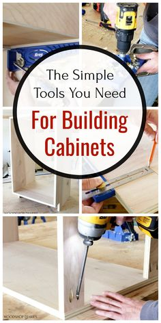Home Deco Furniture, Diy Furniture Videos, Diy Furniture Redo, Diy Kitchen Cabinets, Built In Cabinets, Kitchen Refacing, Cupboards, Woodworking Basics, Beginner Woodworking Projects