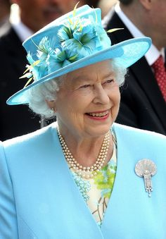 Queen Elizabeth at a garden party in Ottawa, Canada, in June 2010