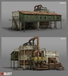 ArtStation - Rust - Radtown Buildings, Howard Schechtman