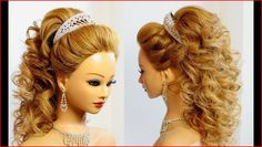 Wedding hairstyles for long hair, bride hairstyles, curly wedding hair, prom hairstyles for Updo Tutorial, Prom Hairstyles For Long Hair, Messy Hairstyles, Bridal Hairstyles, Teenage Hairstyles, Bridal Updo, Short Hair Styles Easy, Natural Hair Styles, Hair Tutorials For Medium Hair