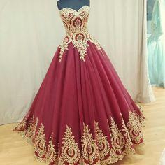 wine red wedding dress,wedding gowns,ball gown wedding dresses,bridal dress, PD2713