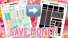 Life Changing Printable Planner Stickers Hack - SAVE MONEY! | InspiredBlush