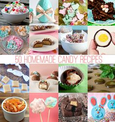50 Homemade Easter Candy Recipes | http://hellonatural.co/50-homemade-candy-recipes/