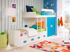 staggered bunk beds