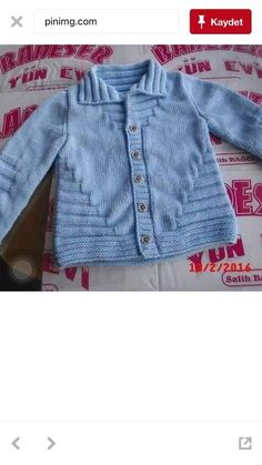 hand knitted blue baby cardigan cashmerino baby by emilyandevelyn - PIPicStats Baby Sweater Patterns, Baby Knitting Patterns, Knitting Designs, Baby Patterns, Crochet Baby Sweaters, Knitted Baby Cardigan, Knitted Baby Clothes, Cardigan Bebe, Baby Girl Jackets