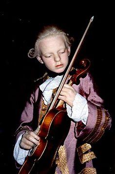 Mozart, Madame Tussaud's Wax Museum.... http://en.wikipedia.org/wiki/Wolfgang_Amadeus_Mozart