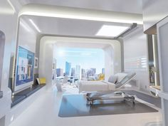 latest technology on hospital beds | Battisto conceived this virtual prototype, Patient Room 2020, in ...