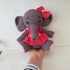 Crochet Pattern Elephant English/ Crochet Elephant PATTERN | Etsy Crochet Elephant Pattern, Crochet Doll Pattern, Crochet Patterns, Crochet Baby, Teddy Bear, Bisquick, English, Dolls, Etsy