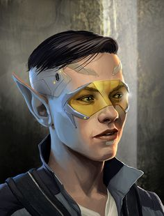 Dragonfall male elf, by David Nash. PUNK ELVES WHY HAVE I NOT THOUGHT OF THIS.