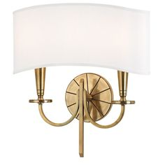 Hudson Valley Lighting 8022 Mason 2 Light Wall Washer Aged Brass Indoor Lighting Wall Sconces Wall Washers