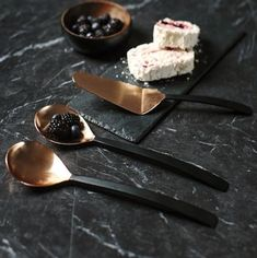 Buy Just Slate Copper Serving Utensil Set online with Houseology's Price Promise. Full Just Slate collection with UK & International shipping. Copper Utensils, Serving Utensils, Kitchen Items, Kitchen Dining, Kitchen Stuff, Kitchen Tools, Kitchen Decor, Black And Copper Kitchen, Wedding Gift List