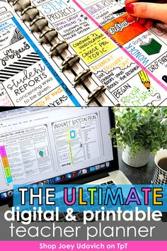 Make this your most organized school year ever with the Ultimate Teacher Planner system by Joey Udovich. This best selling teacher binder includes a print and digital version to meet your teacher organization needs. Includes a variety of pages for classroom organization, student information, lesson plans, substitute binder, student data and more. Customize your #teacherplanner to meet your needs. Includes free updates for life!  Never buy another planner again! #teacherbinder… Teacher Planner, Teacher Binder, Teacher Organization, Your Teacher, Middle School Classroom, First Grade Classroom, Fourth Grade, Second Grade, Student Data Tracking
