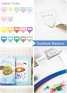 Cookbook Markers - Free printable