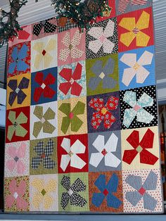 Buggy Barn Flowers by pipersquilts, via Flickr