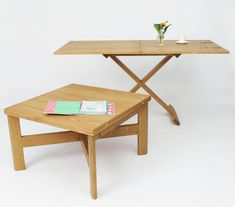 Oak Convertable Eco Multi Functional Table from notonthehighstreet.com