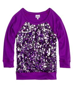 Sequin Long-sleeve Top | Long Sleeve | Tops & Tees | Shop Justice