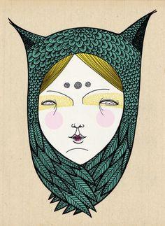"Illustration - illustration  - ""The owl"" by Elena Mir...   illustration :     – Picture :     – Description  ""The owl"" by Elena Mir  -Read More –"