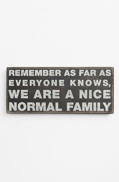 Primitives by Kathy 'Normal Family' Box Sign available at #Nordstrom