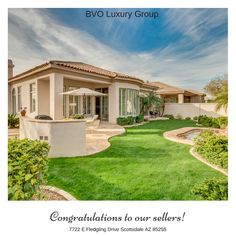 A BIG congratulations to our sellersNancy & Nolan on a successful close!Contact BVO Luxury Group for all of your Real Estate needs at (480) 648-1488. #mls5545806