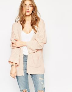 ASOS: Ultimate Chunky Cardigan $48 Still the season to wear your chunky sweaters over dresses, etc. This is a great length, not too long.