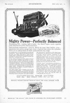 Buick Autocar Car Advert 1925 - Mighty Power - Perfectly Balanced