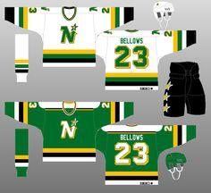 Minnesota North Stars - The (unofficial) NHL Uniform Database Stars Hockey, Hockey Teams, Hockey Sweater, Minnesota North Stars, Ice Hockey Jersey, Hockey World, Nhl Jerseys, National Hockey League, All Star