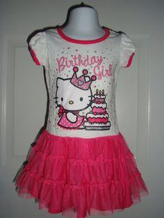 New Hello Kitty Birthday Girl Tutu Dress