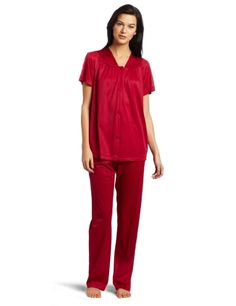 Vanity Fair Women's Colortura Short Sleeve Pajama