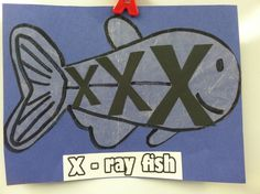 X. Ray fish. Wax paper letter x small and big. | Animal alphabet craf…