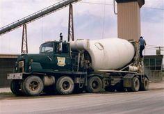 1976 Rubber Railway, Canada x 6 that bends in the middle) Mack Trucks, Big Rig Trucks, Dump Trucks, New Trucks, Custom Trucks, Pickup Trucks, Heavy Duty Trucks, Heavy Truck, Cement Mixer Truck
