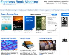 Print-On-Demand your eBooks with Espresso Book Machines | TapBooks Blog | eBooks + Apps + Author SOS Services