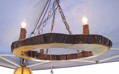 Hollow Log Chandelier - Live Edge Walnut Tree Slice Light Fixture - Natural Rustic Wood Log Home Lighting by MissouriNatureArt on Etsy https://www.etsy.com/listing/217070904/hollow-log-chandelier-live-edge-walnut