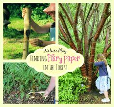 Sun Hats & Wellie Boots: Finding Fairy Paper from Forest Trees - Nature Play