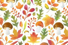 Autumn Backgrounds and Patterns on Behance