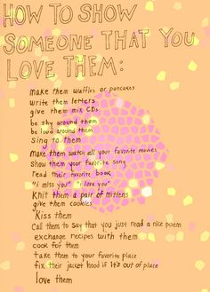 ways to show you love someone