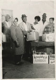 Fannie Lou Hamer, in coat and scarf, helped establish Freedom Farm Cooperative in 1969 with the goal of providing food and some economic independence to local people.