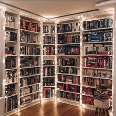 Home Library Rooms, Home Library Design, Dream Library, Home Libraries, Dream Home Design, My Dream Home, House Design, Cozy Home Library, Future Library