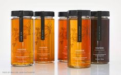 Reorient on Packaging of the World - Creative Package Design Gallery Honey Packaging, Juice Packaging, Food Packaging Design, Beverage Packaging, Bottle Packaging, Packaging Design Inspiration, Brand Packaging, Honey Bottles, Honey Jars