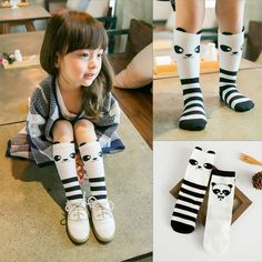 dd7956e02 0 6 Year Cotton Baby Boys Girls Knee High Socks Children Toddler Winter  Casual Cartoon Panda Warm Leg Warmers-in Socks from Mother   Kids on  Aliexpress.com ...
