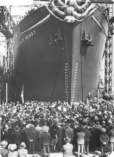 In 1944, the Bethlehem-Fairfield Shipyard announced it still had 97 Liberty ships to build before converting to Victory ship production. More than 2,500 of the cargo vessels were built during World War II, with 384 of them coming from Fairfield. The SS Patrick Henry (pictured above) was built there, becoming the first Liberty ship to launch in 1941. One of the last two operational Liberty ships is the SS John W. Brown, docked at Clinton Street. (Baltimore Sun photo, 1941)