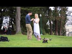 Back in the olden days, guys just got down on one knee. Now, they need flying machines and aerial photography to get through a marriage proposal.