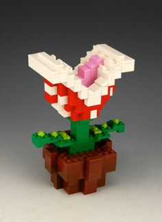 Lego Nintendo Piranha Plant by BrickBum Build A Better World, Awesome Lego, Cool Lego Creations, Lego Projects, Worlds Of Fun, Super Mario, Cartoon Characters, Nintendo, Plant