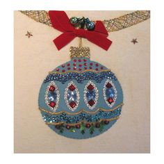 Dazzling Vintage Christmas Tree Skirt / Felt Sequin  Jewels. $38.00, via Etsy.
