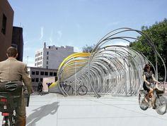 Futuristic Bike Shelter Proposed in Pasadena
